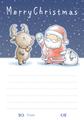 クリスマスカード(B) 5枚セット
