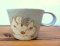 長田恵 ネコマグカップ*茶