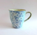 丹山窯 お花のマグカップ*ブルー