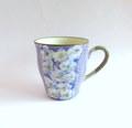 丹山窯 お花のマグカップ*パープル