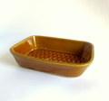 よしざわ窯*キャラメル色の四角い鉢