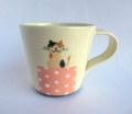 我妻洋夫 ミケネコの小さいマグカップ*ピンク