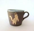 つぐみ製陶所 王様猫のマグカップC