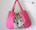 猫とお花のふんわりショルダーバッグ*ピンク