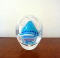 Glass Studio BiBi おうち花器*ブルー