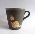 つぐみ製陶所 王様猫のマグカップ大B*チヤトラねこ