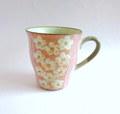 丹山窯 お花のマグカップ*ピンク