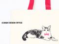 猫のイラストトートバッグ