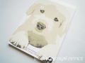 ゴールデンレトリバーの仔犬のイラストメモ帳