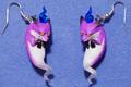 ミニ霊コン!(イヤリング、ピアス)紫