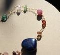 ラピスとキラキラ宝石たちのコラボ ブレスレット(ハート)