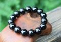 漆黒の輝き! 最高級チベットモリオン(黒水晶) 大珠ブレスレット