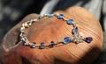 セール特価! 青の気品! ネパール産カイヤナイト&アイオライト プチブレス