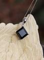 漆黒の気品! 宝石質ブラックスピネル ペンダント