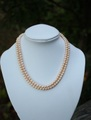 セール特価! 淡水真珠(パール) 2連ネックレス(ライトオレンジ)