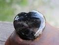 強力な守護の石 モリオン(黒水晶)ハート型タンブル