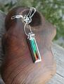 激レア1点もの!「七色の繁栄の石」 レインボーアンモライト 宝石質 デザインペンダント