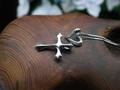 シルバークロス(十字架)+ハートの2Way デザインペンダント