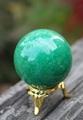 鮮やかエメラルド色! グリーン・アベンチュリン丸玉