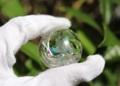 超美麗の虹入り! 天然水晶35ミリ丸玉