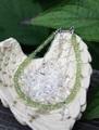 セール特価! 緑のきらめき 宝石質ペリドット 2連ブレスレット