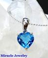 引き込まれる深海のブルー!宝石質【ロンドンブルートパーズ、ラブリーハートペンダント】