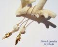 4/7新月発表!【NSJハーフプライス】【本気の貴女を応援!マザーオブパール「婚活」&「妊活」サポートピアス(イヤリングへ変更可能)】