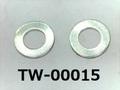 (TW-00015) SUS 平ワッシャー M1.4 (1.5x3.0x0.3) 生地