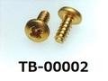 (TB-00002) 真鍮 タッピング二種 バインド 2×5 生地