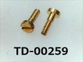 (TD-00259) 真鍮 特ヒラ [20065] - M1x3.4 (S=2) 脱脂洗浄