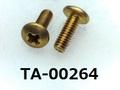(TA-00264) 真鍮 トラス + M2x6 生地
