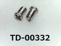(TD-00332) SUSXM7 #0特ナベ [1803] + M1.4x2.4 パシペート ノジロック付