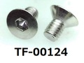(TF-00124) 六角穴付 サラ (D=6) 3x5 脱脂