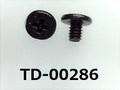 (TD-00286) 鉄16Aヤキ #0特ヒラ [2705] + M1.2x1.7 ベーキング、三価黒