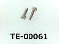 (TE-00061) SUS304 #00特ナベ [1103] +- M0.5x2 パシペート
