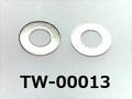 (TW-00013) SUS304 平ワッシャー M1.6 (1.8X3.8X0.3) 生地