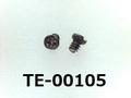 (TE-00105) 純チタン TW340 #00特ナベ [12035] + - M0.8x1 生地