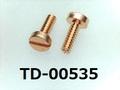 (TD-00535) リン青銅 特ヒラ [20065] - M1x3 脱脂
