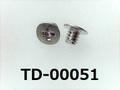 (TD-00051) SUSXM7 #0特ヒラ[2502] + M1.4×1.5 パシペート