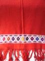 マヤ織りショール 赤