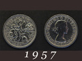 1957年 6ペンスコイン
