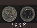 1958年 6ペンスコイン