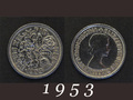 1953年 6ペンスコイン