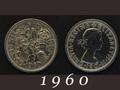 1960年 6ペンスコイン