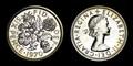 1970年 最終発行年の記念貨 6ペンス