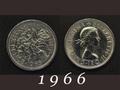 1966年 6ペンスコイン