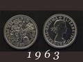 1963年 6ペンスコイン