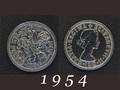 1954年 6ペンスコイン