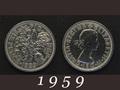 1959年 6ペンスコイン