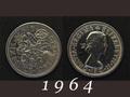 1964年 6ペンスコイン